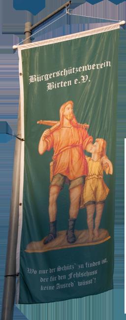 Flagge des Bürgerschützenfereins Birten e.V.