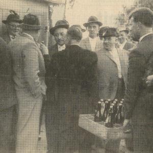 1960 - Festplatz - Bürgerschützen - Bier in Holzkisten