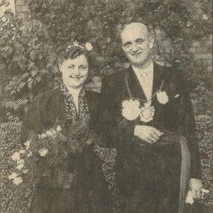 Erstes Königspaar: Karl Brandenburg und Karola Maassen