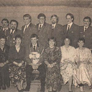 Königspaar: Leo und Angelika van Bebber und Thron 1990